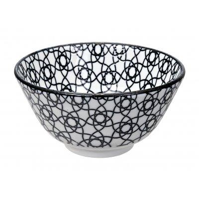 Nippon black rice bowl stripe