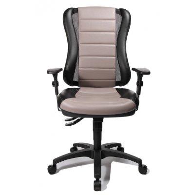 Bureaustoel zwart/beige