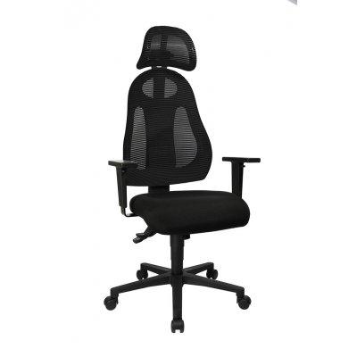 Bureaustoel zwart-donkergrijs