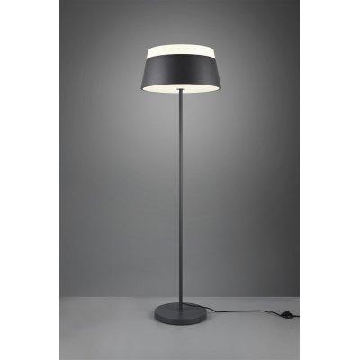Staande lamp baroness antraciet/wit