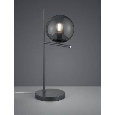 Tafellamp pure antraciet/glas rookkleur