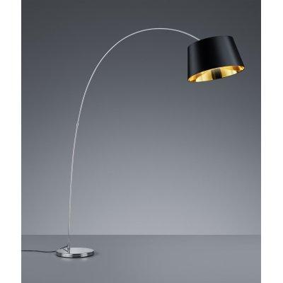 Staande lamp linz boog chroom/zwart