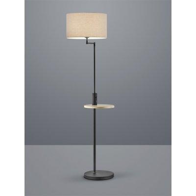 Staande lamp claas mat zwart/grijs