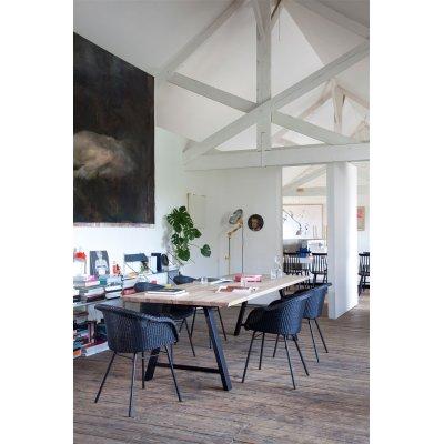 Tafel albert a-frame 260x100 natural+zwart 2-delig