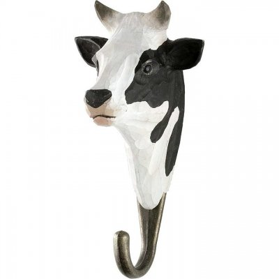 Hook black & white cow