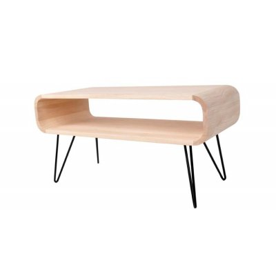 Coffee table xlboom timber matt black legs