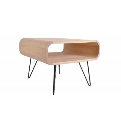 Square table xlboom large timber black legs