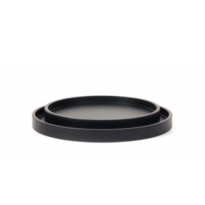 Low tray round cofee bean set of 2
