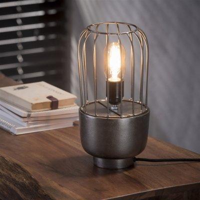 Tafellamp draadstaal 1xe27 , excl lamp , led mogelijk